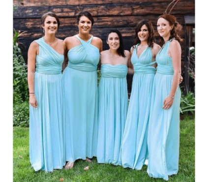 Plus Size Maxi Multiway Dress - Convertible Bridesmaid Dress in +30 Colors