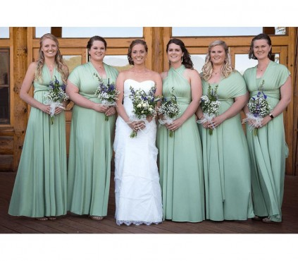 Infinity in Silver or Platinum Color Bridesmaid Dresses
