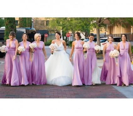 Convertible Bridesmaid Jumpsuit For Weddings Wide Leg Bridal Jumpsuit