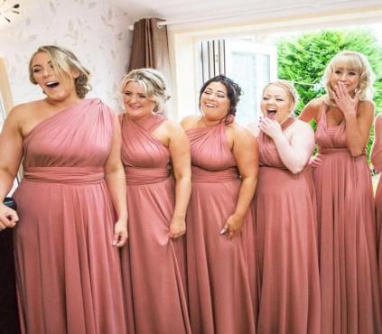 Navy Blue Infinity Bridesmaid Dresses