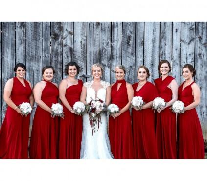 Burgundy Bridesmaid infinity Dresses