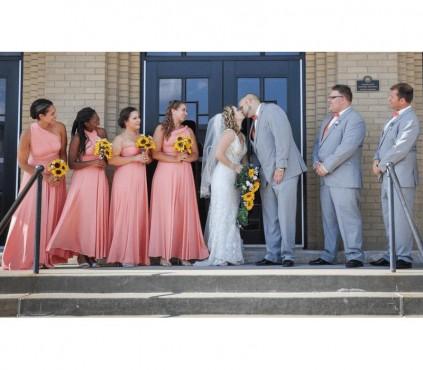 Dusty Blue infinity Bridesmaid dresses