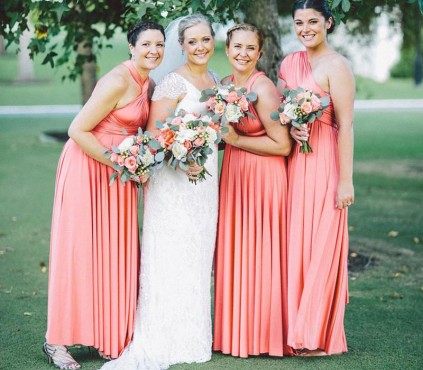Baby Blue infinity bridesmaid dresses