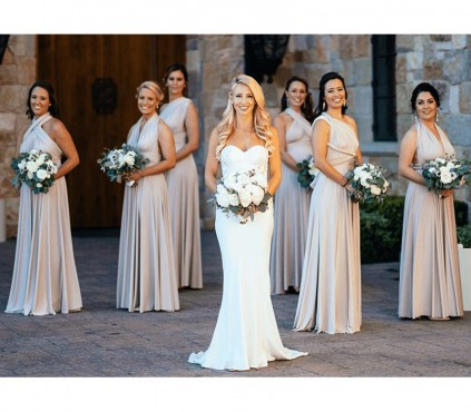 Navy Blue Infinity Bridesmaid Dresses