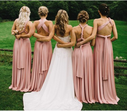 Burgundy Bridesmaid infinity Dresses
