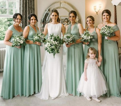 Charcoal Gray Infinity Bridesmaid Dresses