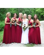 Burgundy Infinity Bridesmaid Dress in + 36 Colors