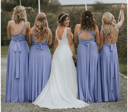 Short Plus size Infinity Dress Multi wrap Bridesmaid Dress