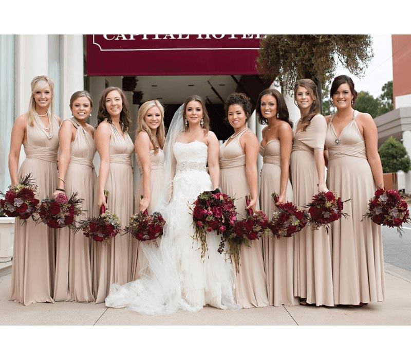Dusty Rose / Nude Infinity Bridesmaid Dresses