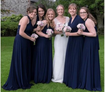Navy Infinity Multi way Convertible Bridesmaid Dress