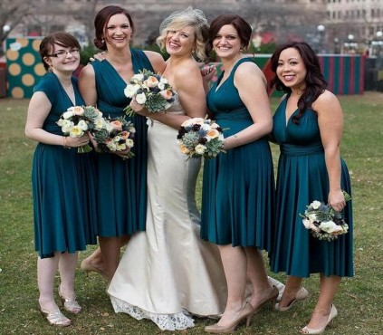 Teal Green infinity bridesmaid dresses