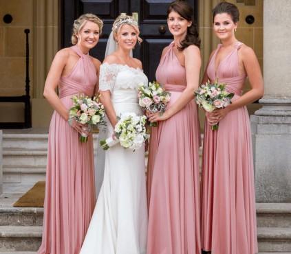 Dusty Rose Infinity Dress Bridesmaid Convertible wrap Dress