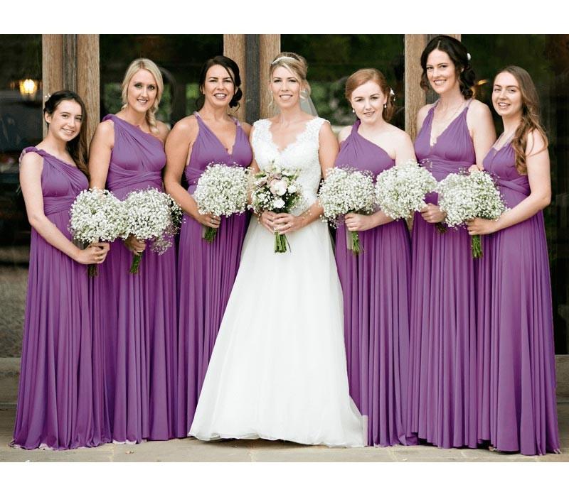 Purple Infinity Bridesmaid Dresses