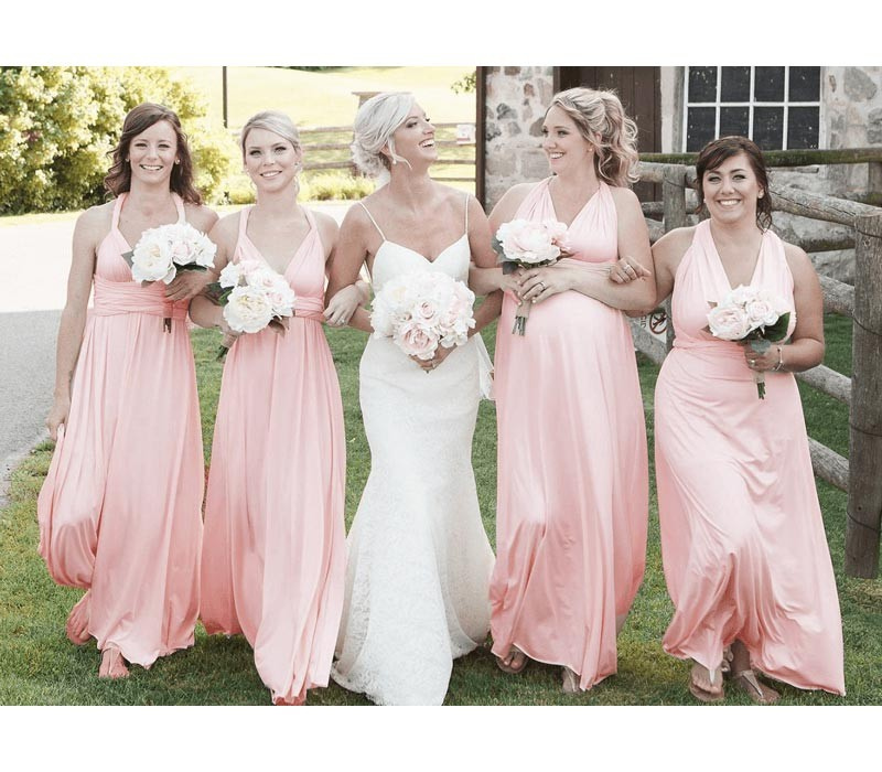 Blush Infinity Bridesmaid Dress Convertible Wrap Dress