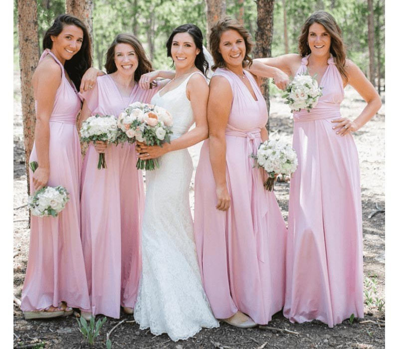 Purple Infinity Bridesmaid Dresses