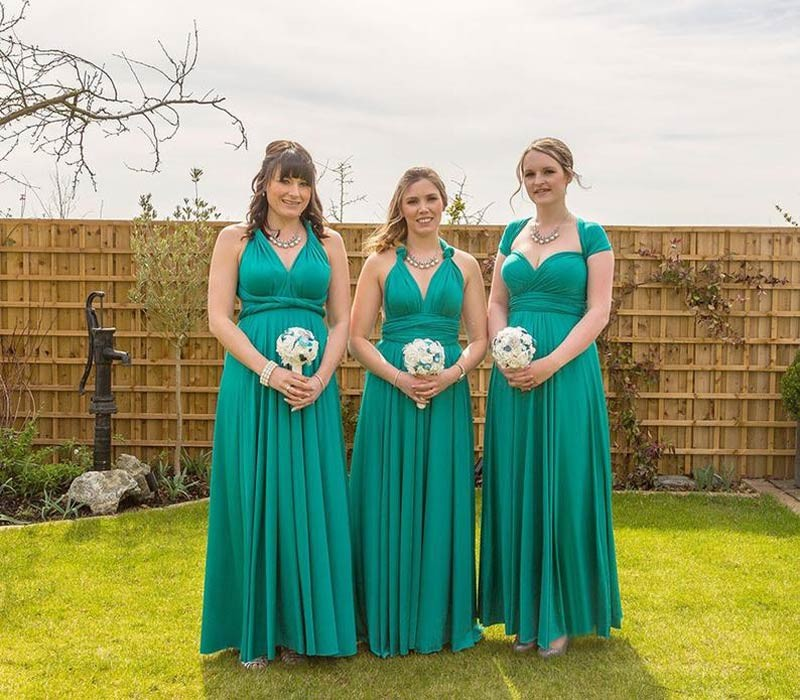 Green infinity bridesmaid dresses