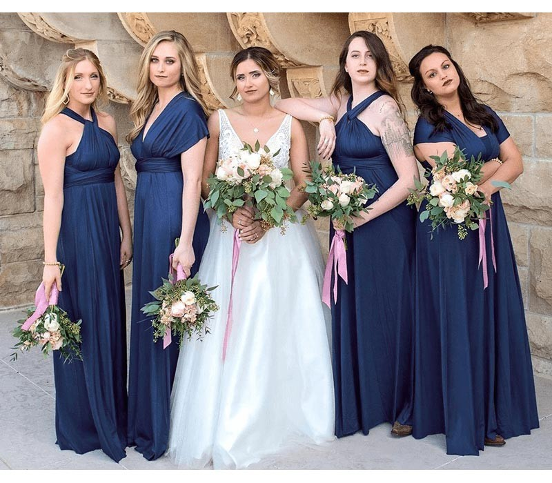 Midnight Blue Infinity Bridesmaid Dress in + 36 Colors
