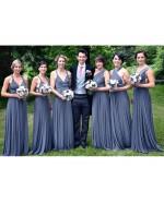 Steel Blue Infinity Bridesmaid Dress in + 36 Colors