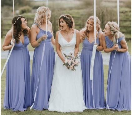 Dusty Blue Infinity Bridesmaid Dress