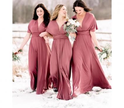 Burnt Orange Infinity Bridesmaid Dresses