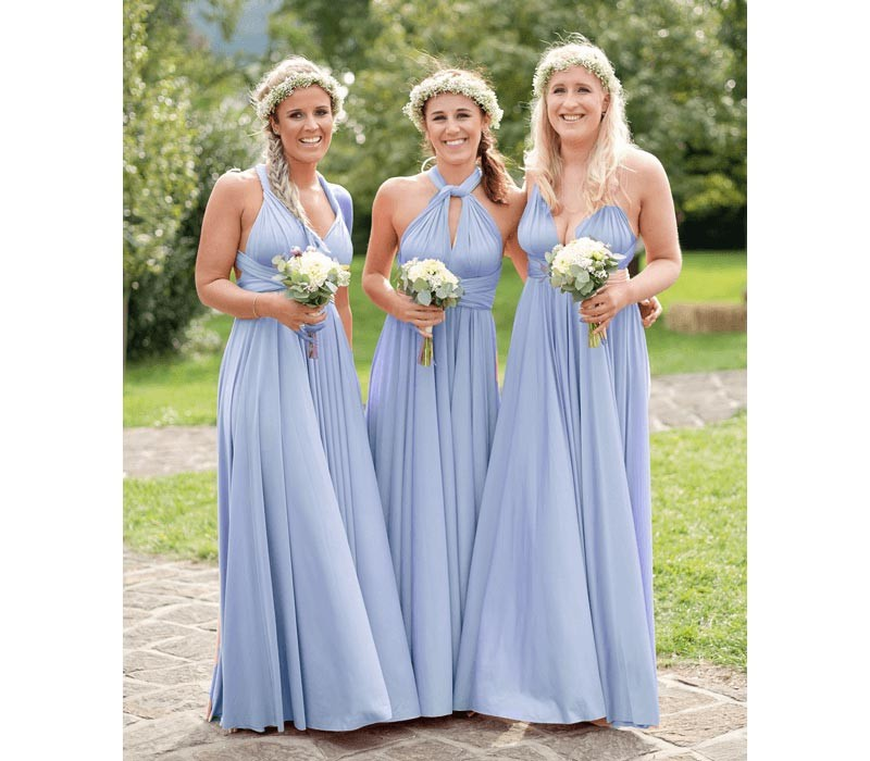 Black infinity bridesmaid dresses