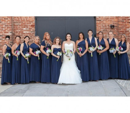 Ruby Red infinity bridesmaid dresses