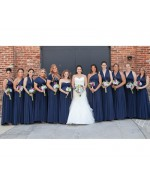 Ruby Red Infinity Bridesmaid Dress in + 36 Colors