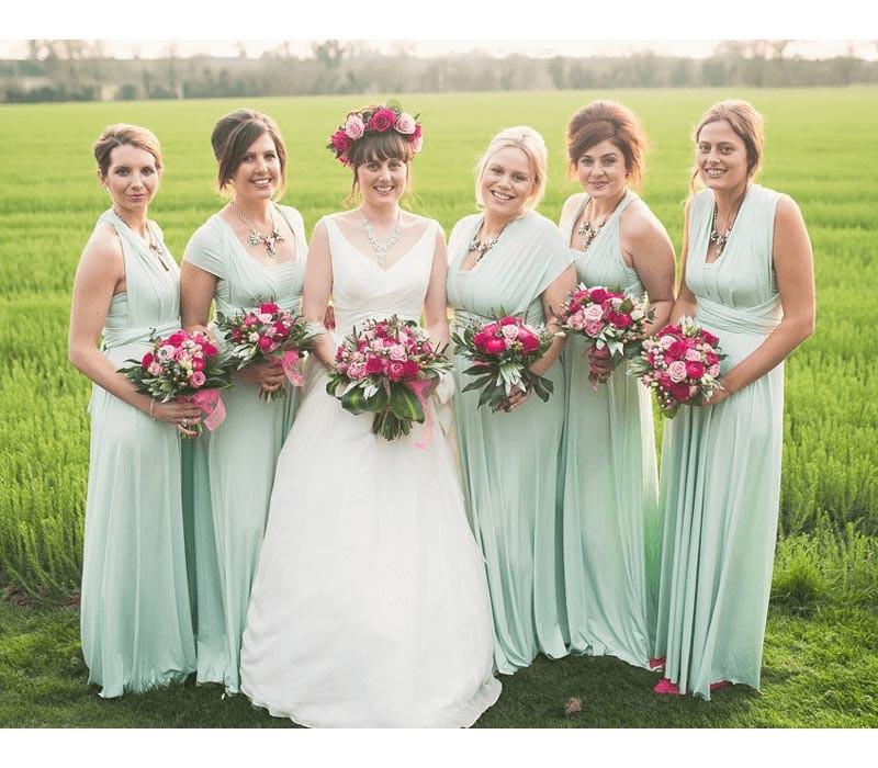 Steel Blue Bridesmaid Dresses