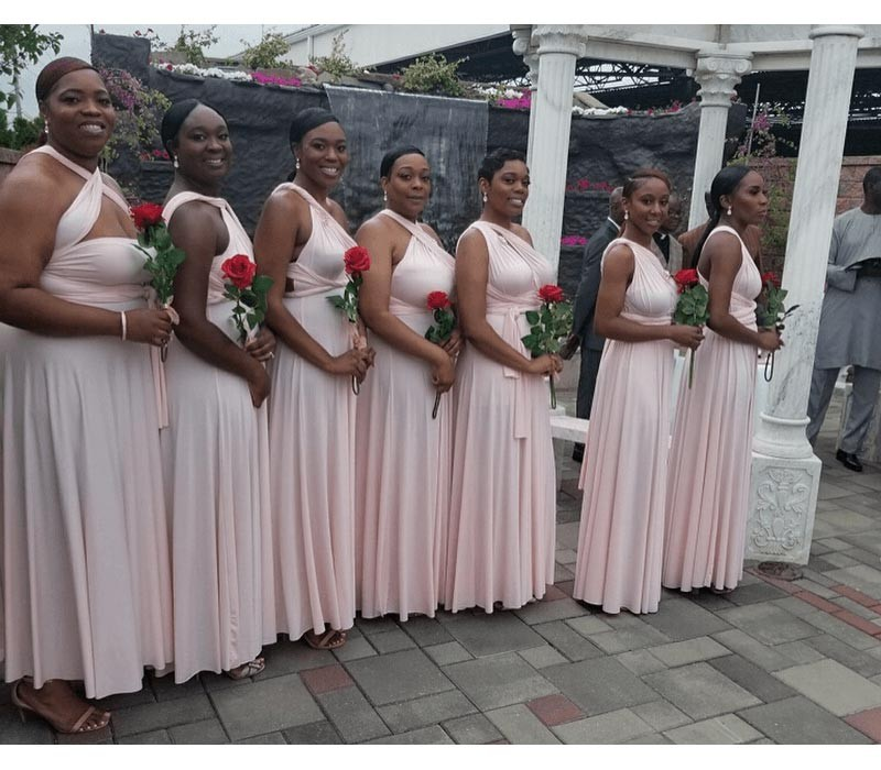 Chocolate brown infinity Bridesmaid dresses