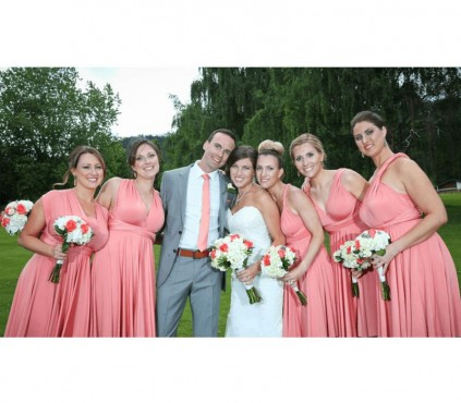 Beige infinity bridesmaid dresses