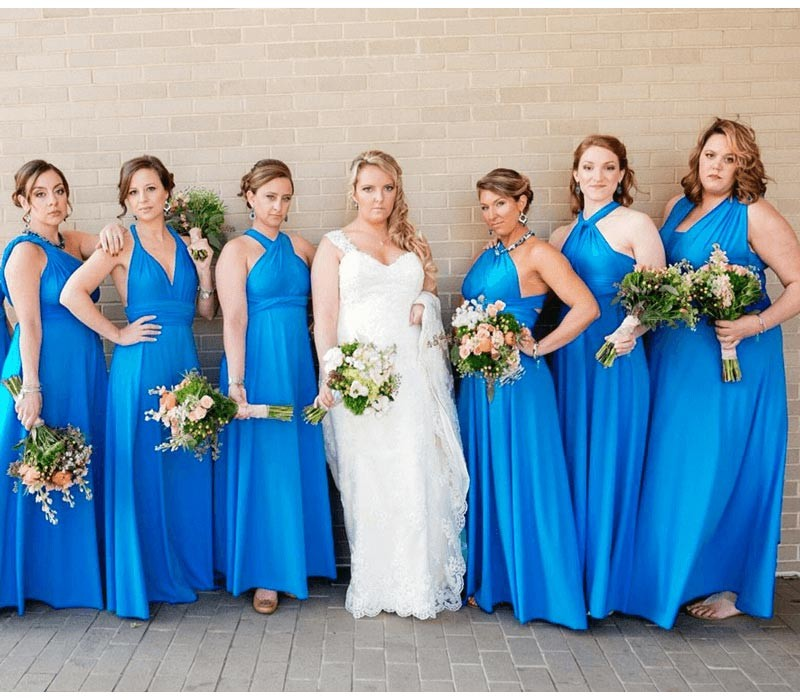Turquoise Infinity Dress convertible bridesmaid