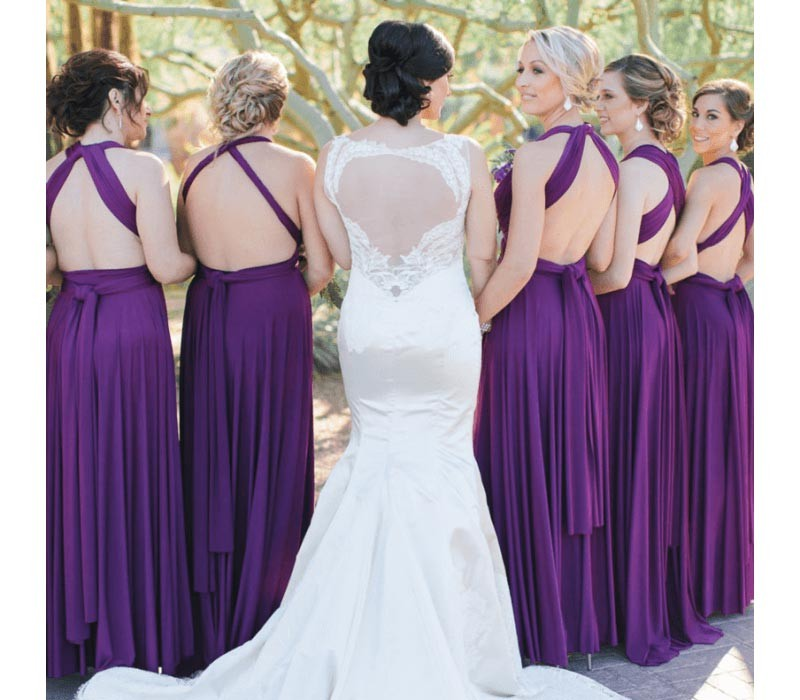 Dusty Rose / Nude Infinity Bridesmaid Dresses