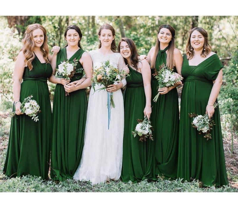 Infinity Wedding Dress Larimeloom: Long Peach Coral Convertible