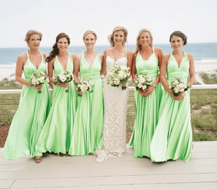 Mint Green Bridesmaid Infinity Dress wrap