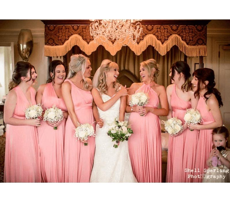 Peach Coral Infinity Bridesmaid Dresses