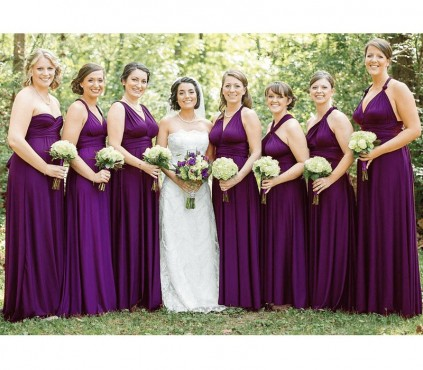 Burnt Orange Infinity Bridesmaid Dresses