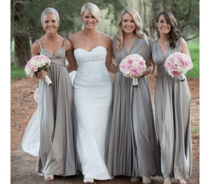Dusty Blue infinity Multiway bridesmaid dress