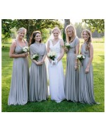 Silver Gray Infinity Bridesmaid Dress in + 36 Colors
