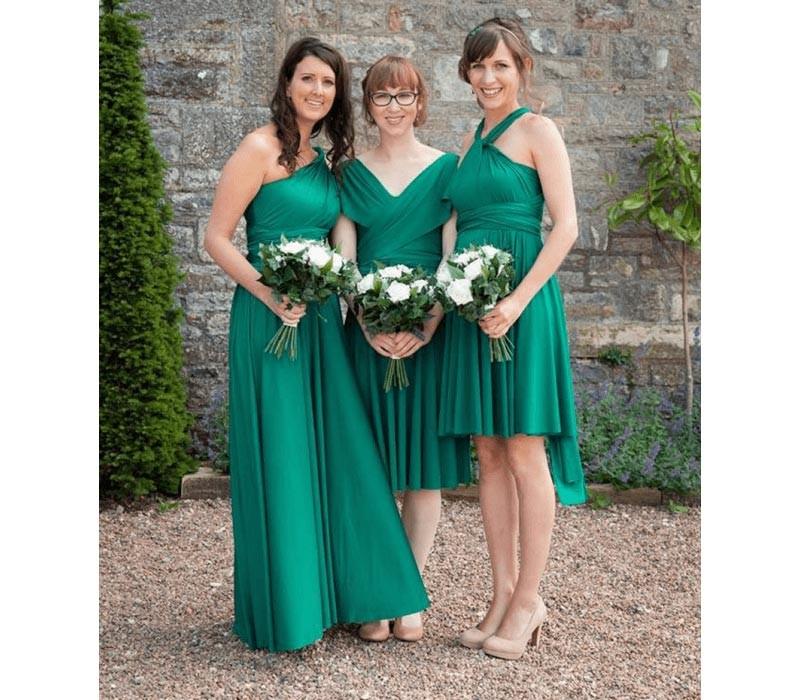 Green Infinity Bridesmaid Dress Convertible wrap Dres