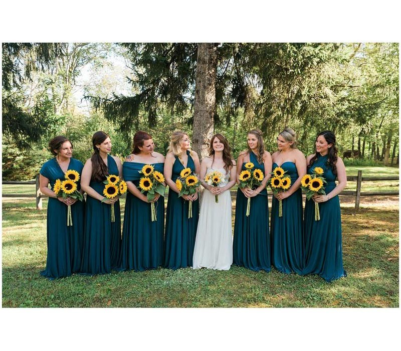 Teal Green Infinity Bridesmaid Dress convertible multiway dress