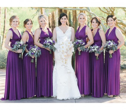 Purple Infinity Bridesmaid Dress Convertible wrap dress