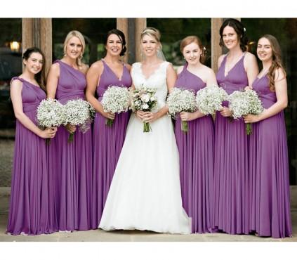 Wisteria Infinity Bridesmaid Dress multi way convertible Wrap dress