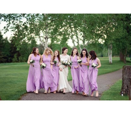 Lilac Infinity Bridesmaid Dress Convertible wrap dress