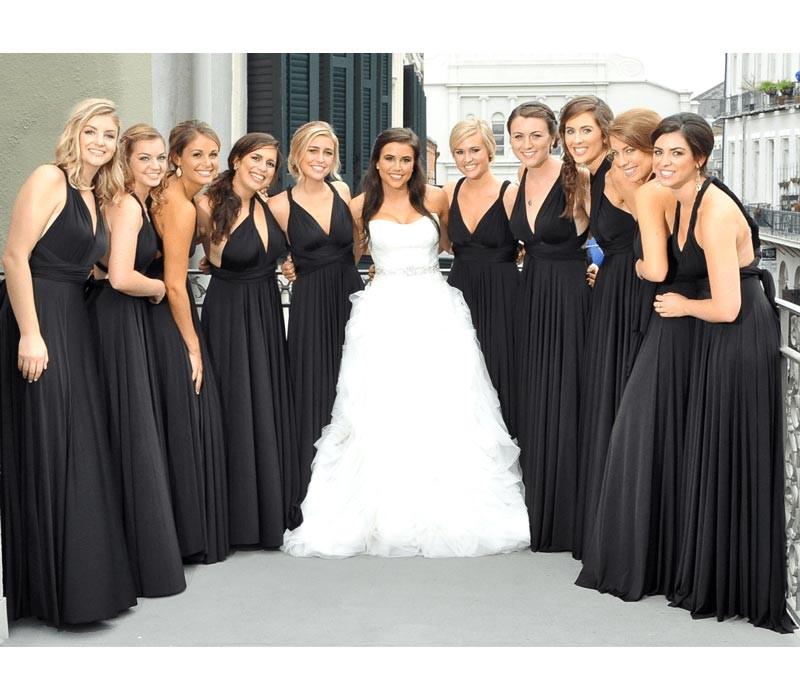 Black Infinity Bridesmaid Dress Convertible multi way dress