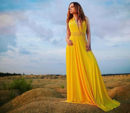 Yellow Infinity Bridesmaid Convertible Dress