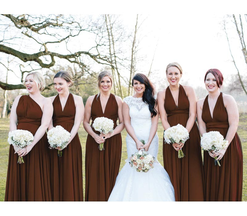 Brown Infinity Dress Convertible Bridesmaid dress