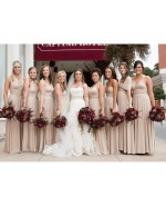 Beige Champagne Infinity Bridesmaid Dress in + 36 Colors