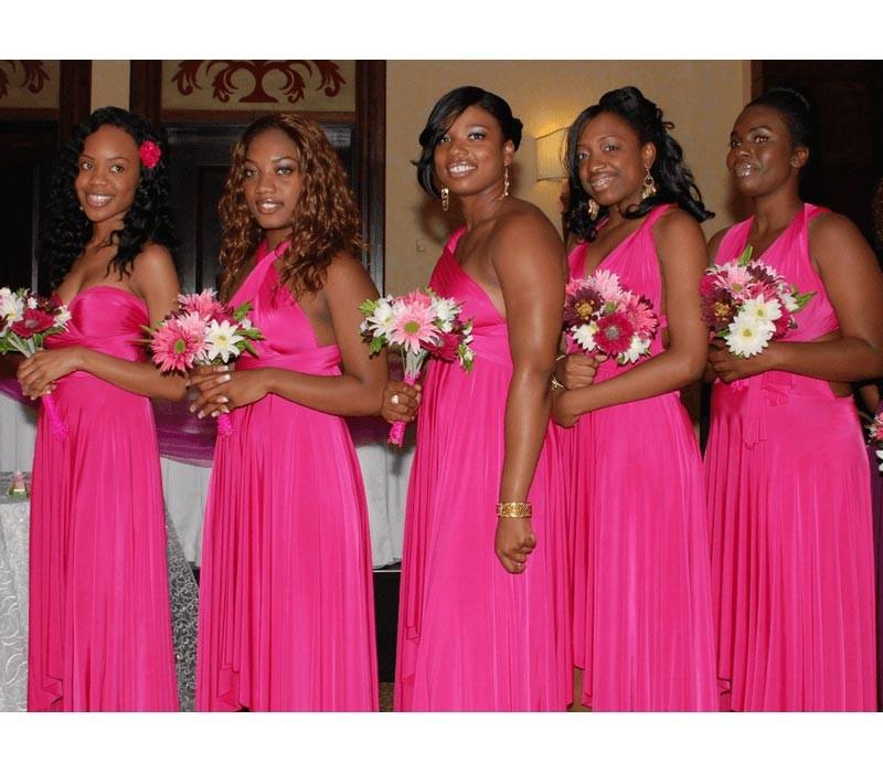 Fuchsia Infinity Bridesmaid Convertible Dress