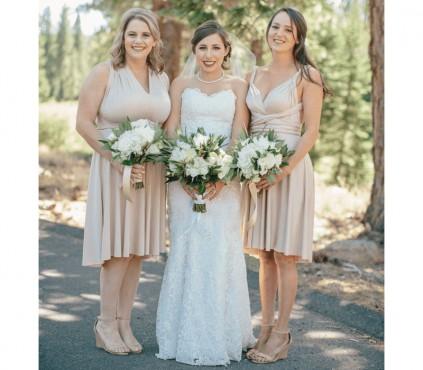 Short Infinity Bridesmaid Dress knee length
