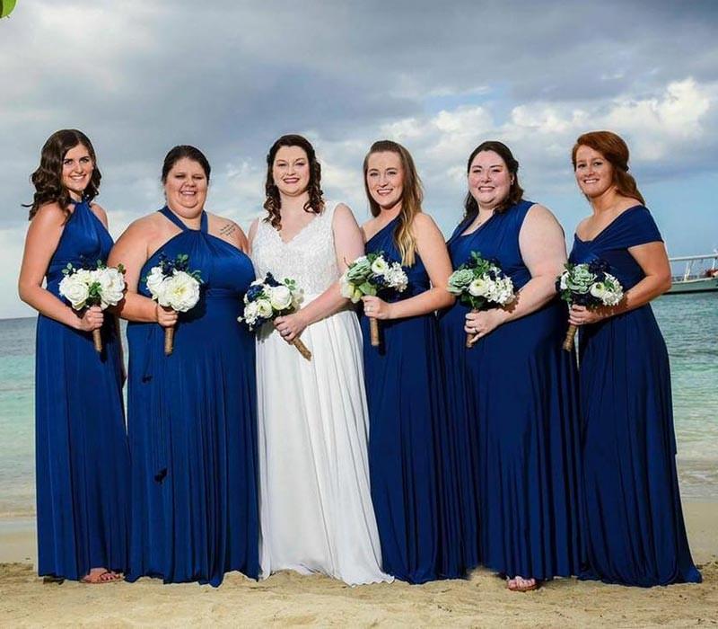 Royal Blue Plus size infinity Dress bridesmaid convertible dress plus size